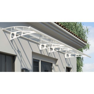Palram Bordeaux 4460 Plastic Standard Door Awning Wayfair In 2020 Door Awnings House Entrance Entrance Awnings
