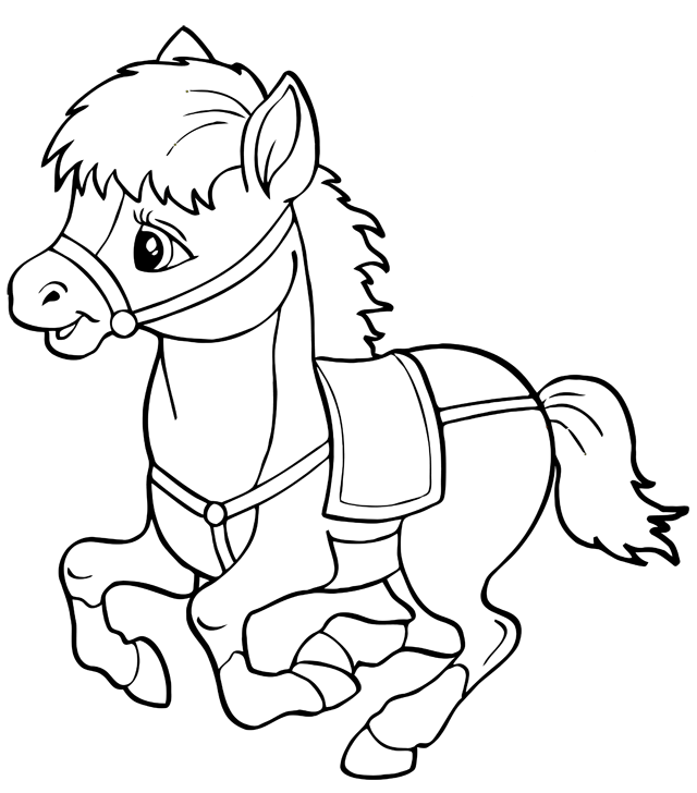 Très dessin à colorier : les chevaux coloriage à imprimer, un cheval  AR16