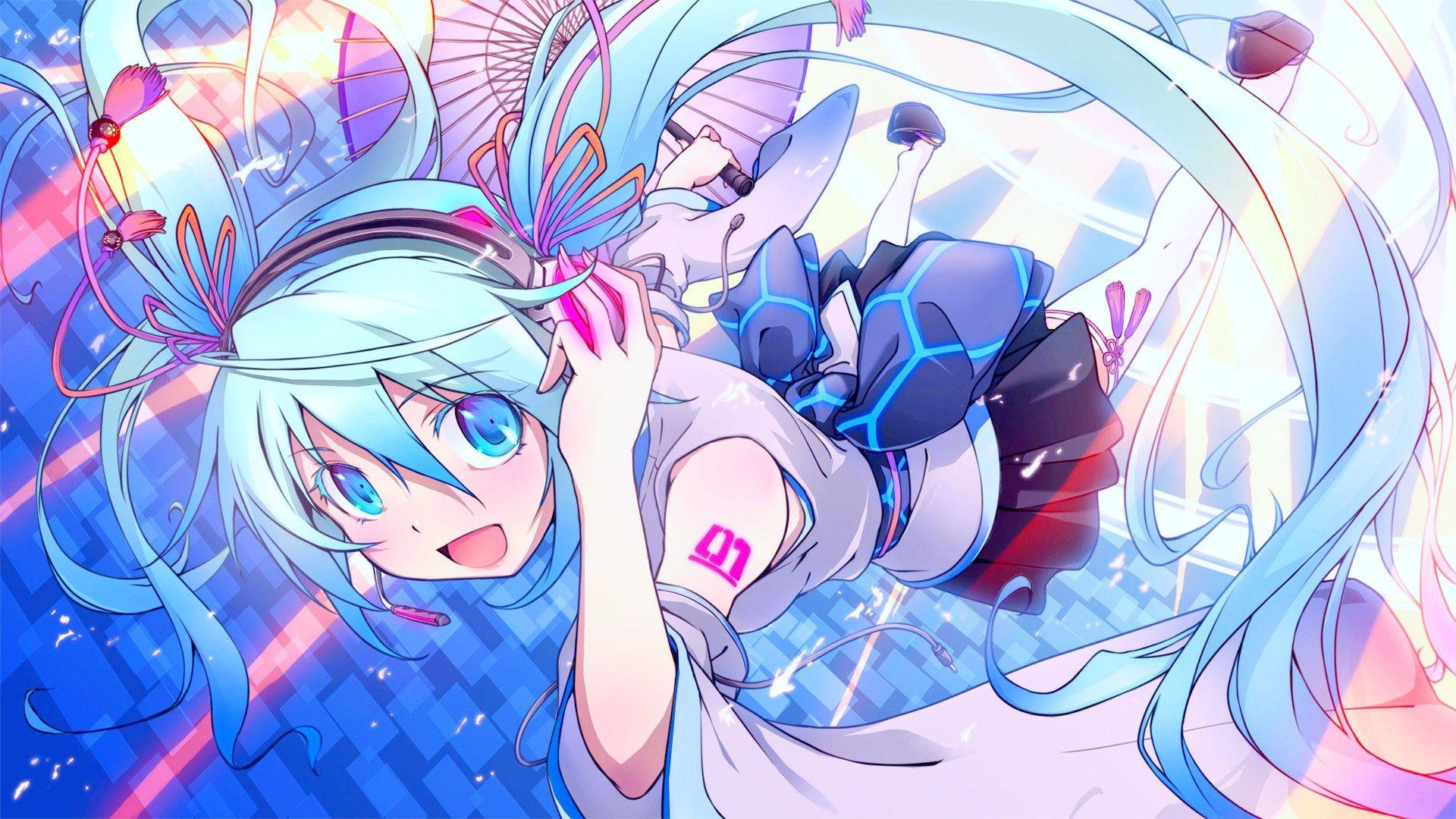 aqua, Hair, Blue, Eyes, Hatsune, Miku, Headphones, Long