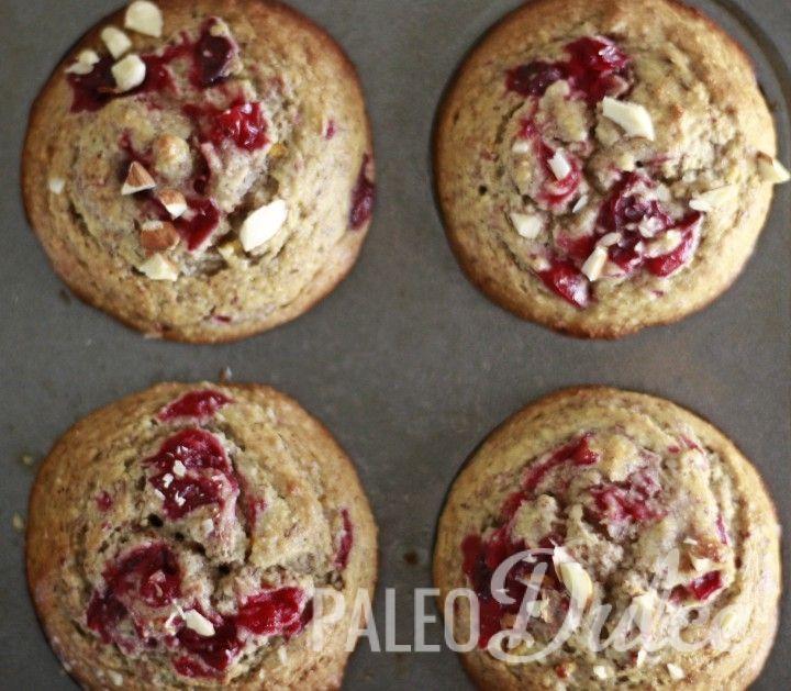 Cranberry Orange Swirl Muffins | Paleodulce.com