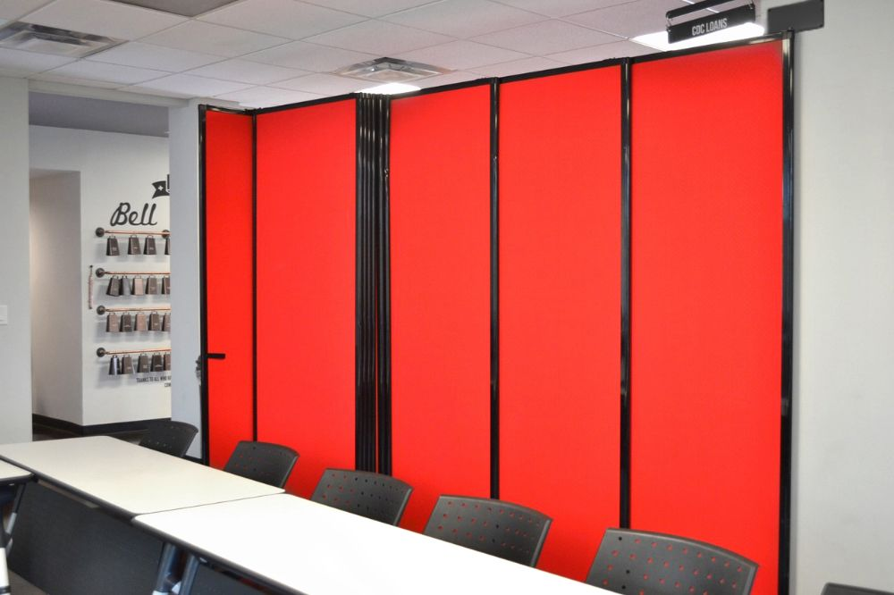 Our Sliding Wall Mounted Room Divider will separate classroom space