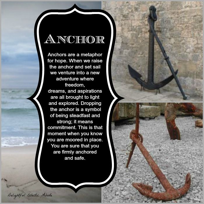 Loving The Symbolism And Metaphor For Anchors It Also Fits Well