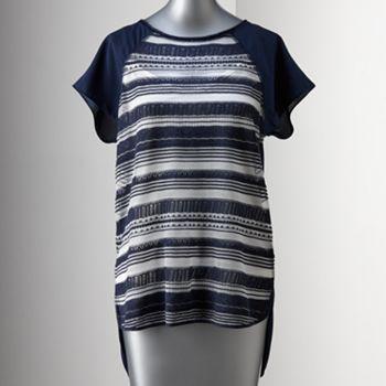 Simply Vera Vera Wang Lace Mixed-Media Sweater - Women's #kohls