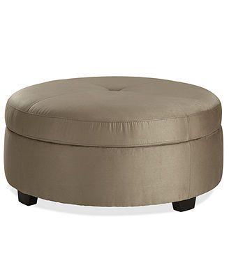 Terrific Raja Fabric Ottoman Storage 36 Dia X 18 H Accent Chairs Inzonedesignstudio Interior Chair Design Inzonedesignstudiocom