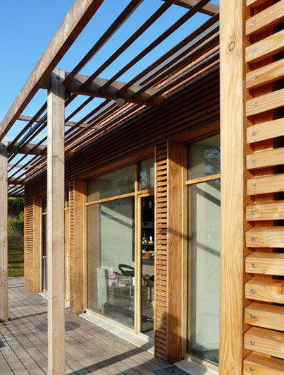 brise soleil maison ossature bois ventana blog. Black Bedroom Furniture Sets. Home Design Ideas