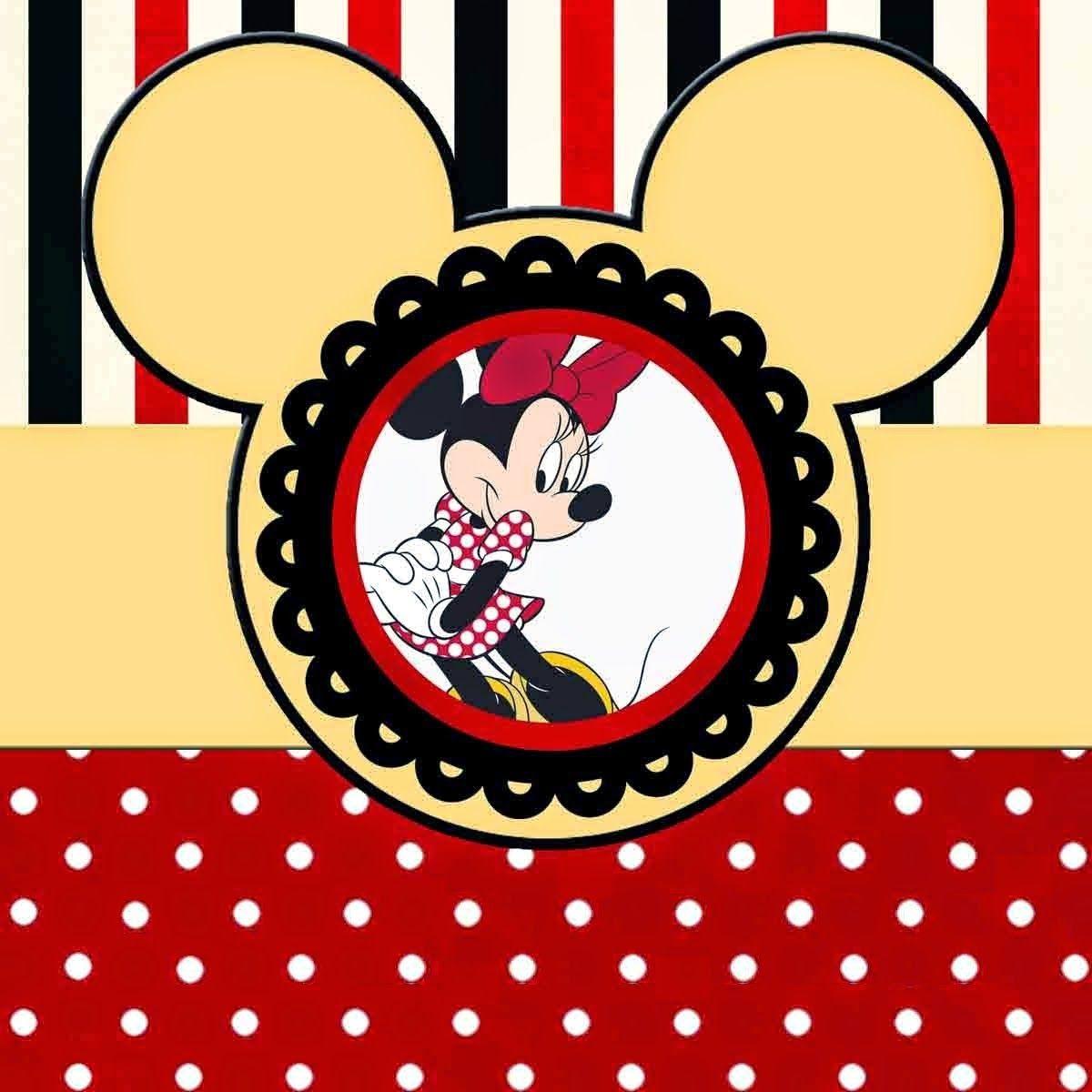 Divertidos Imprimibles Gratis de Minnie Mouse Rojo.   ideas para ...