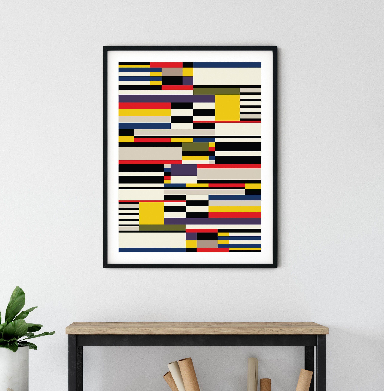 Bauhaus Modern Art Retro Decor Ideas Abstract Decor Printable