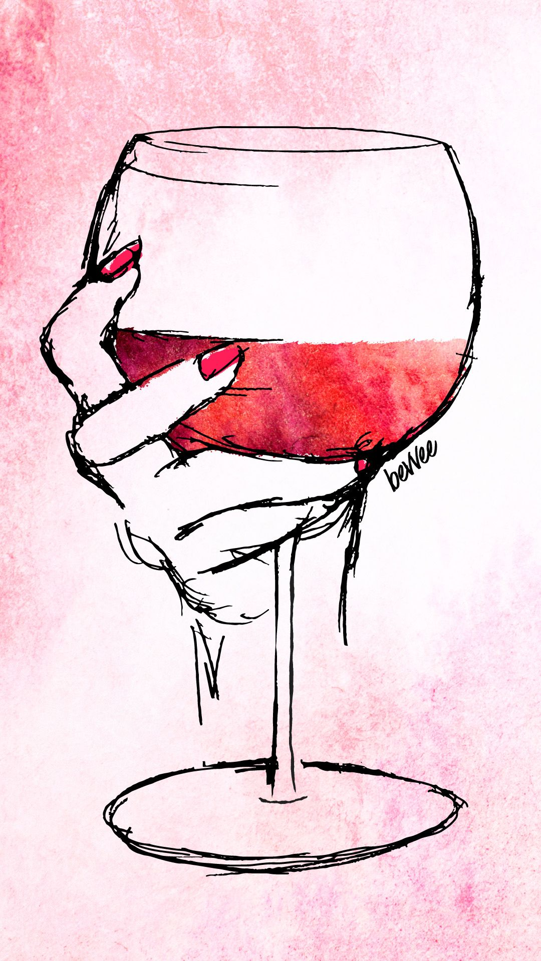 Watercolor Wine Digital Downloads Wine Glass Drawing Wine Glass Art Wine Wallpaper