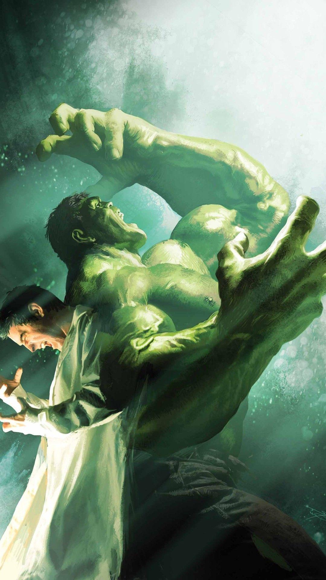 Bruce Banner Turning Into The Hulk Mobile Wallpaper 5433