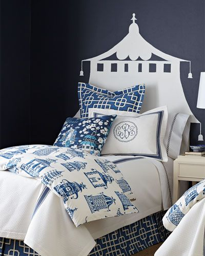 Ming Pagoda Bedding Blue White Decor Blue And White Blue And White Chinoiserie