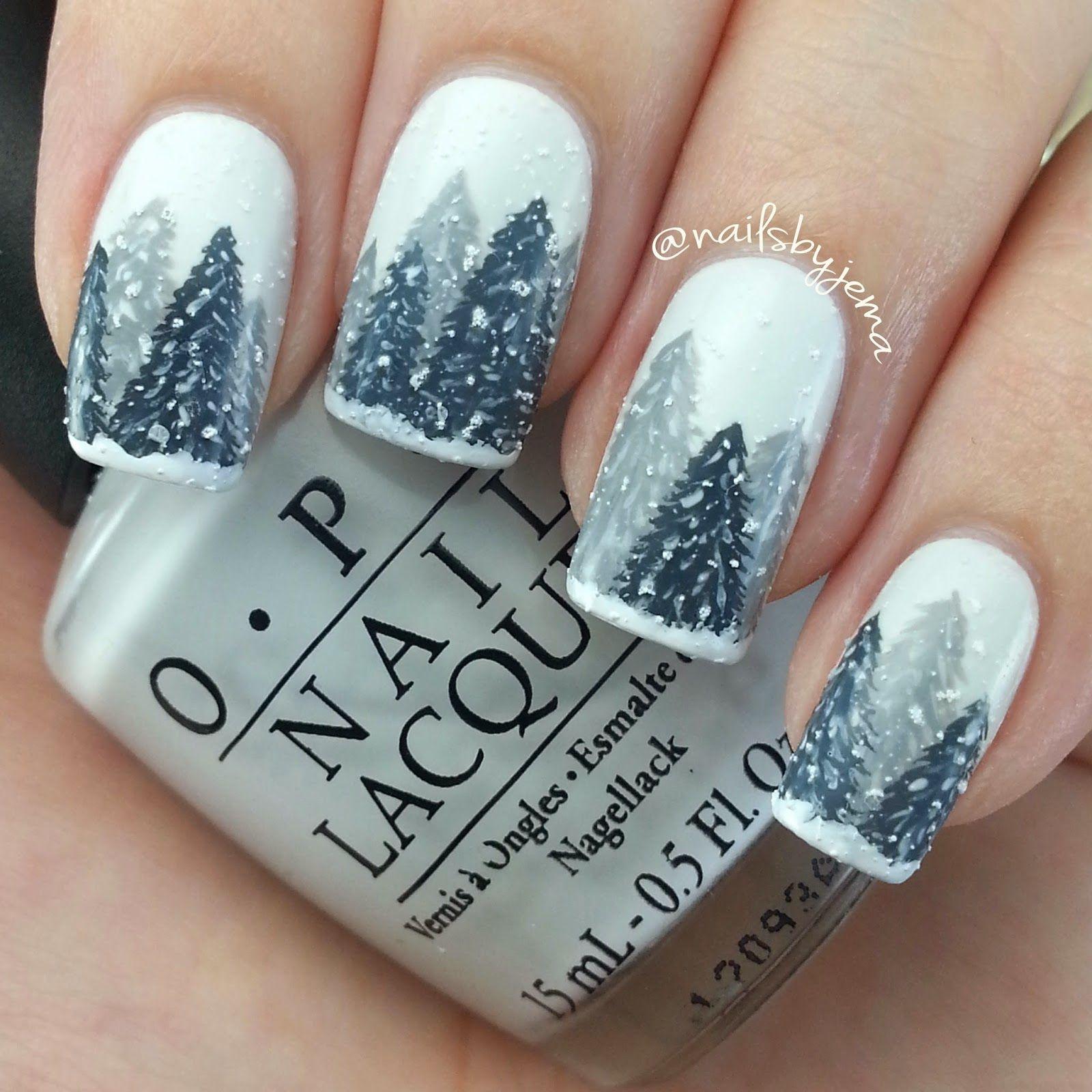 Nails By Jema Winter Wonderland Nails Aka My Favorite Nails Ever