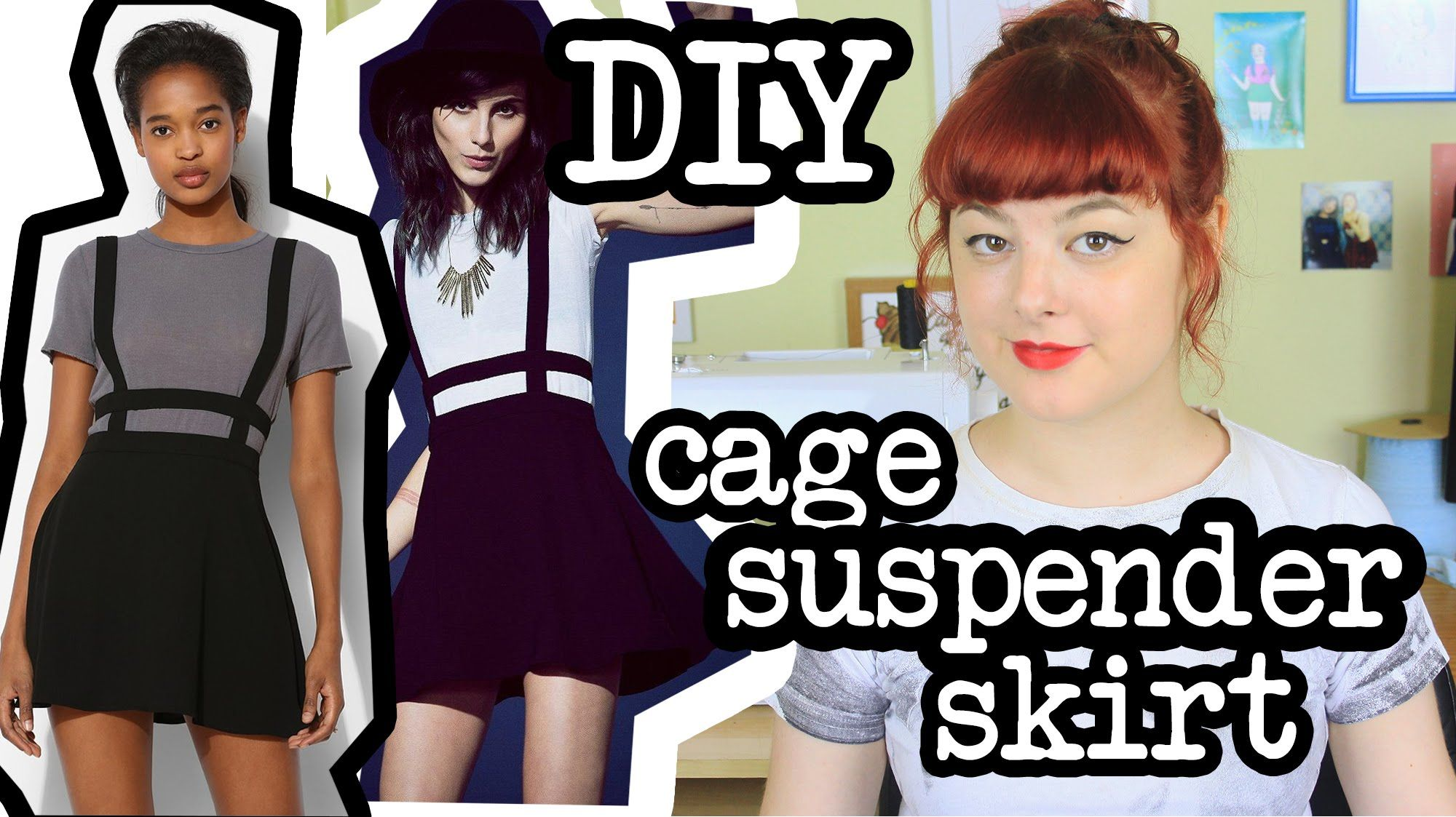 Learn how to make your own cage suspender skirt with this simple tutorial. Support me on Patreon! https://www.patreon.com/annikavictoria DIY circle skirt tut...