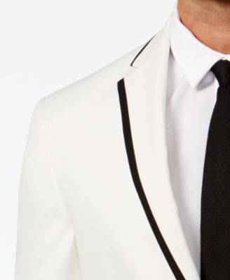 f08a38987 Slim-Fit White with Black Trim Dinner Jacket, Online Only | Products ...