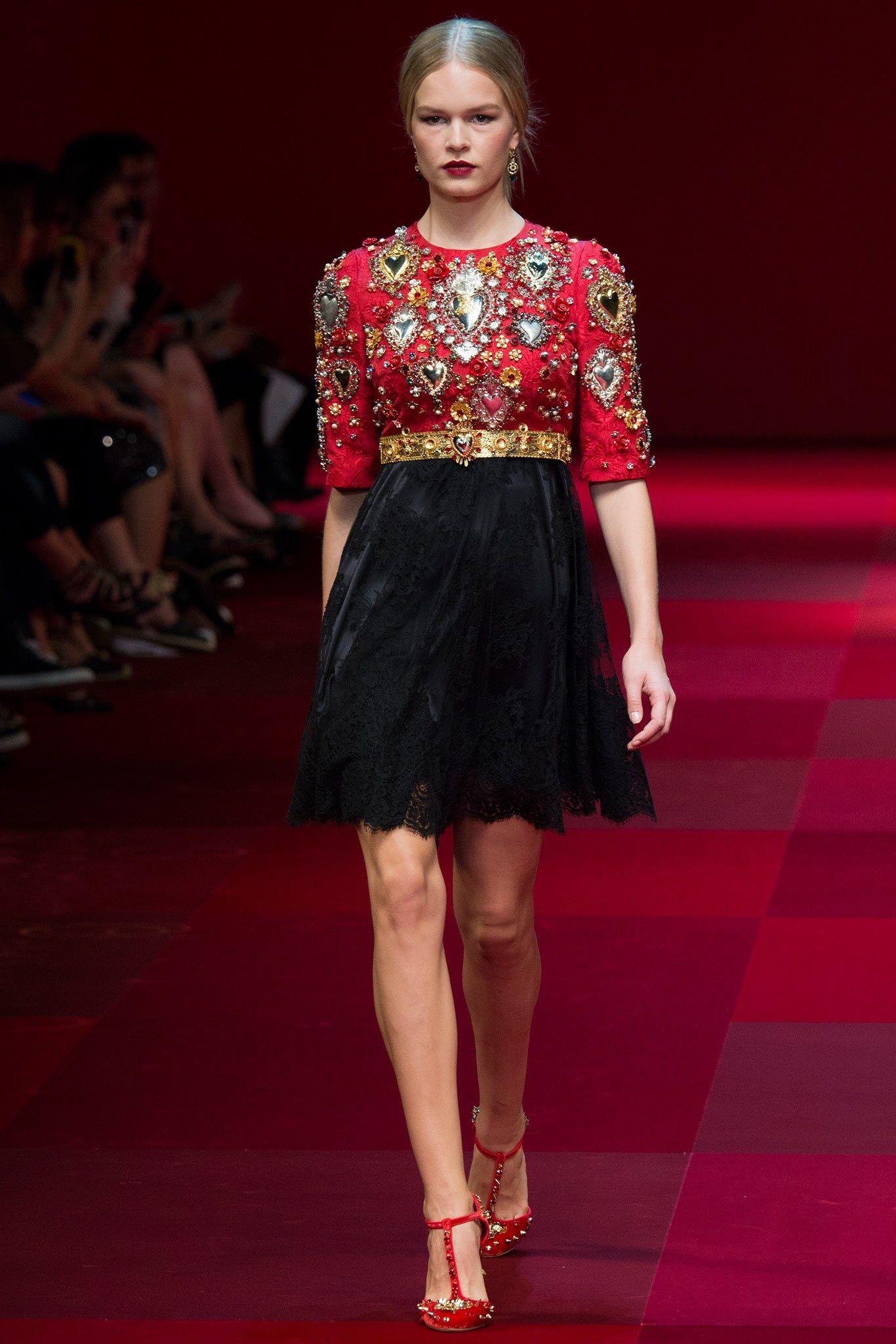 Dolce & Gabbana Spring 2015 Ready-to-Wear Fashion Show - Anna Ewers
