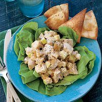 "Coronation Chicken Salad with Pita Chips Rachael Ray ""Every Day Magazine"""