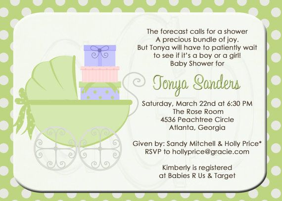 Baby Shower Invitation Uni