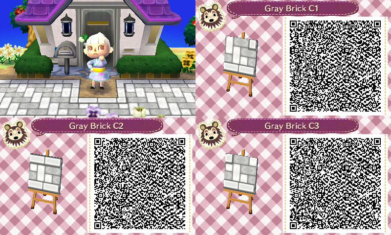 Acnl White Brick Path Qr Code Animal Crossing Qr Codes Animals Animal Crossing Qr