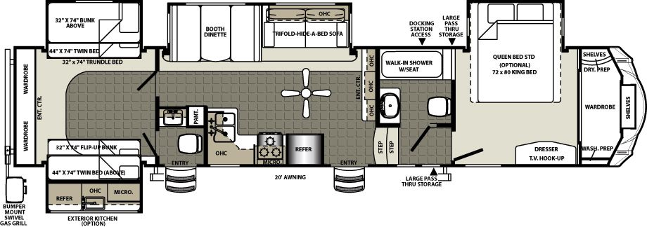 Sierra Fifth Wheels by Forest River RV Rv floor plans
