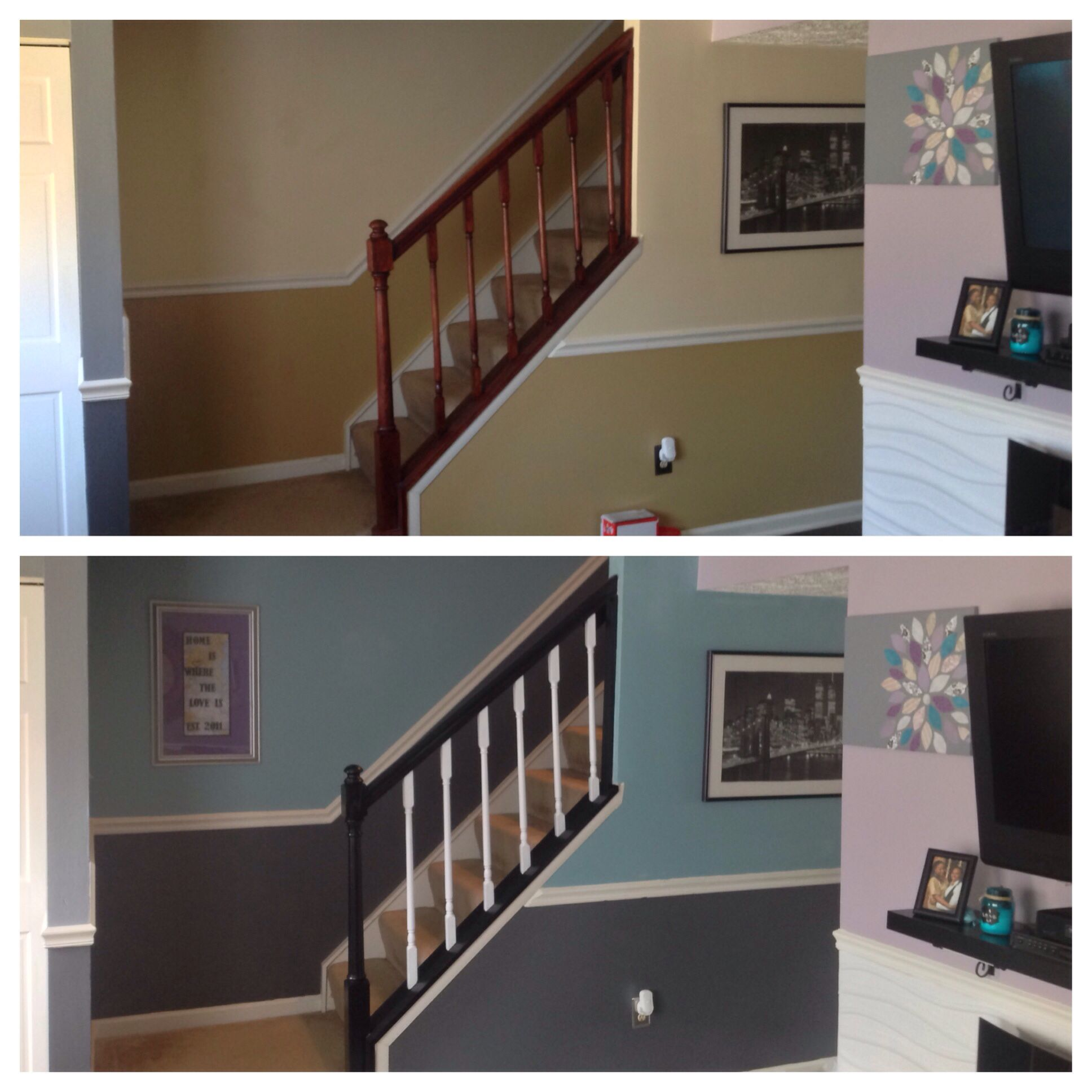 Refreshed Hall And Banister! Wall Colors By Behr: Gulf