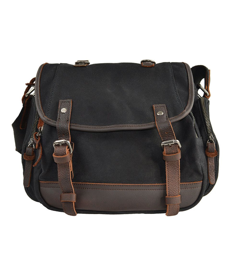 Black   Brown Leather-Trim Messenger Bag by Roberta Rossi  zulily   zulilyfinds 93fb0c8882