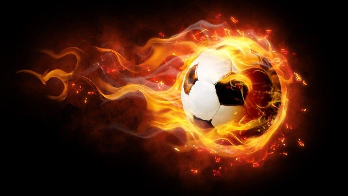 Soccer And Fire Backdrop Football Wallpaper Soccer Football