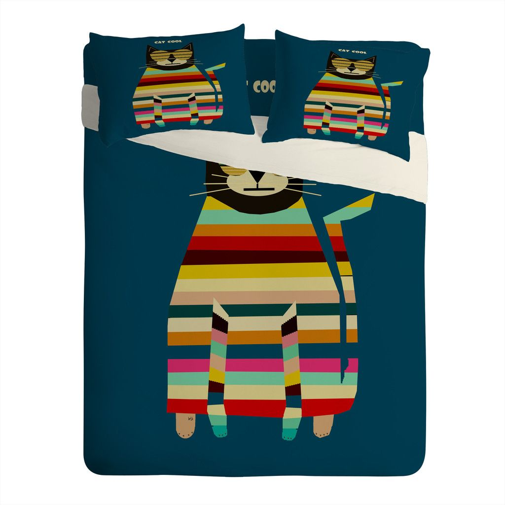 Brian Buckley Cat Cool Sheet Set Lightweight | DENY Designs Home Accessories