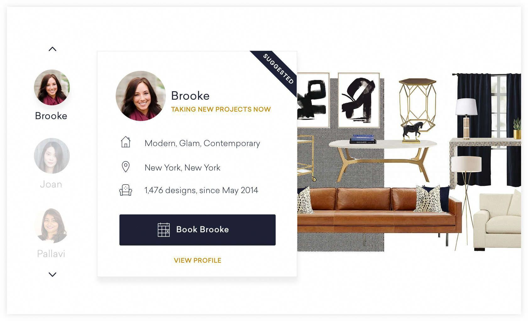 Example Page To Review Interior Designer Profiles And Pick Who You Want Design Your Room