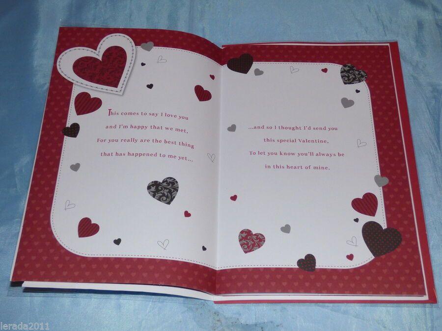 VALENTINES DAY CARD BOYFRIEND TATTY TEDDY CUTE TRADITIONAL VALENTINE CARD x
