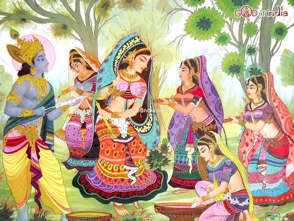 Happy holi radha krishna images - Colorful Holi Radha Krishan
