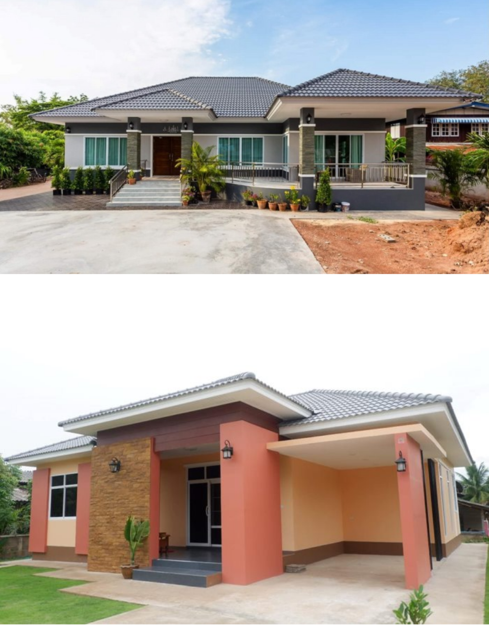 Four Gorgeous Bungalows With Many Bedrooms Pinoy Eplans Bungalow Design Affordable House Design My House Plans