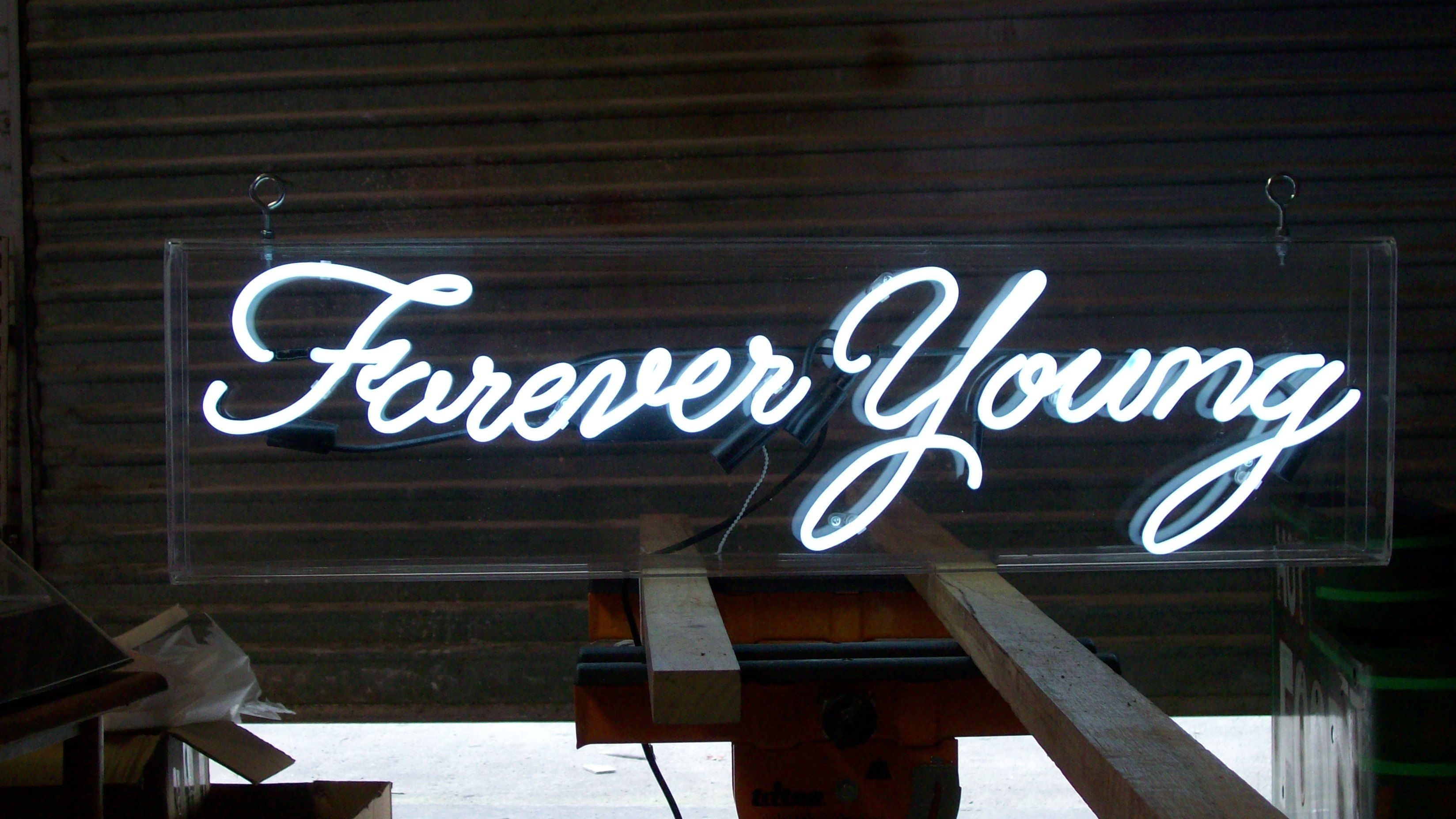 Forever young wedding signs image neon signs
