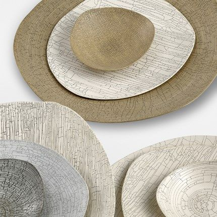 Triangolo Ceramics Plate Bowl | Rina Menardi | Decorative Home Accessories | Indoor Outdoor Objects & Accessories | Contemporary furniture & Accessories | Co-founded Interiors