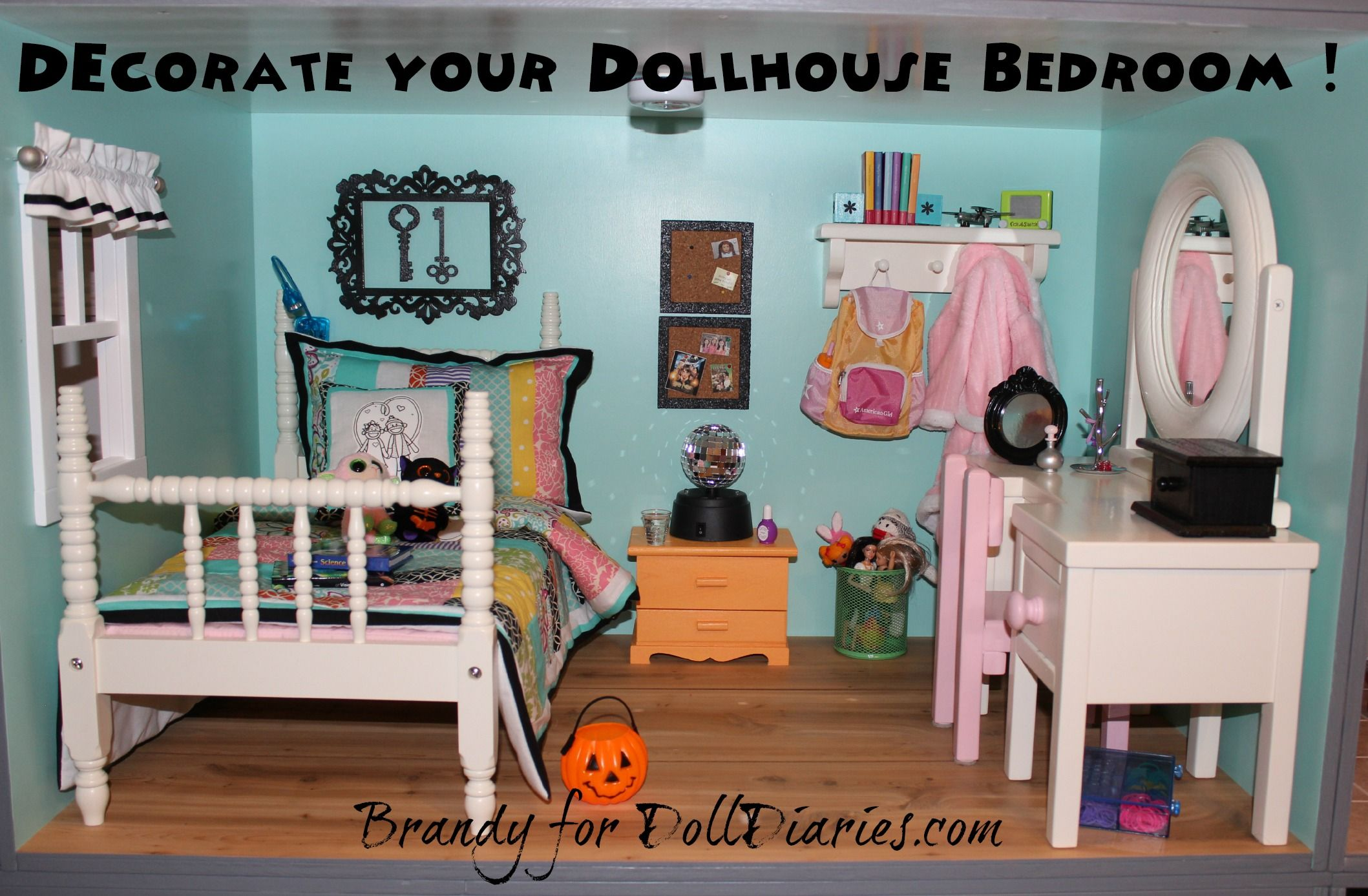 I Think My Daughters And I Enjoyed Decorating Their Dollhouse Bedroom The  Most Since These Rooms Were Decorated Very Similar To Their Own Real  Bedrooms.
