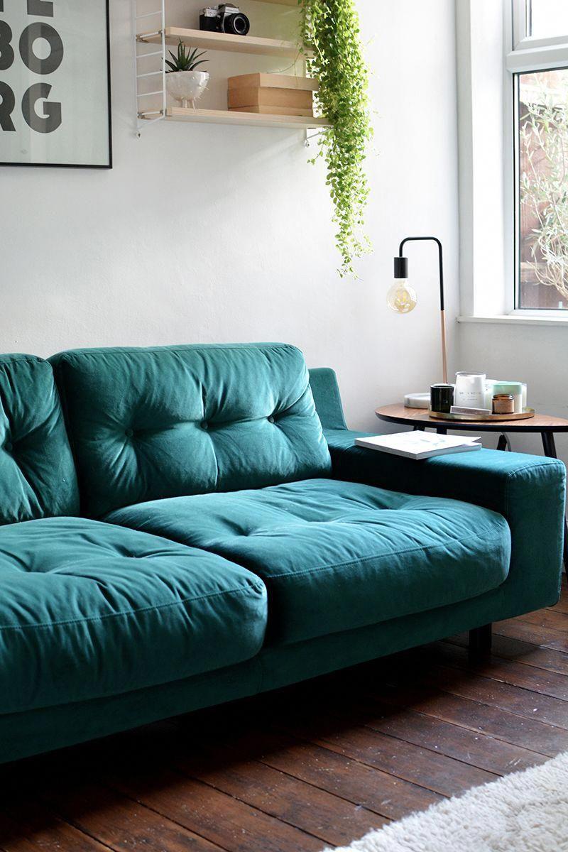 Habitat Hendricks Sofa Boholivingroom Teal Sofa Living Room Living Room Reveal Colourful Living Room
