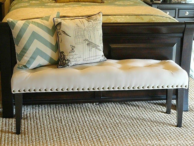Our Home Away From Home: DIY DROP CLOTH BENCH FOR THE MASTER BEDROOM