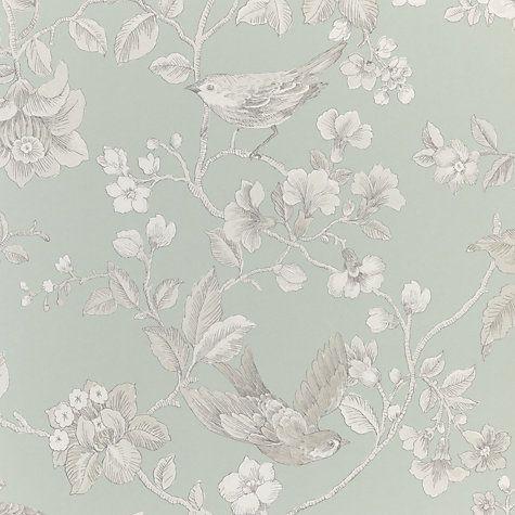 Buy John Lewis Nightingales Wallpaper Online At Johnlewis Com Green Floral Wallpaper Victorian Wallpaper Old Wallpaper