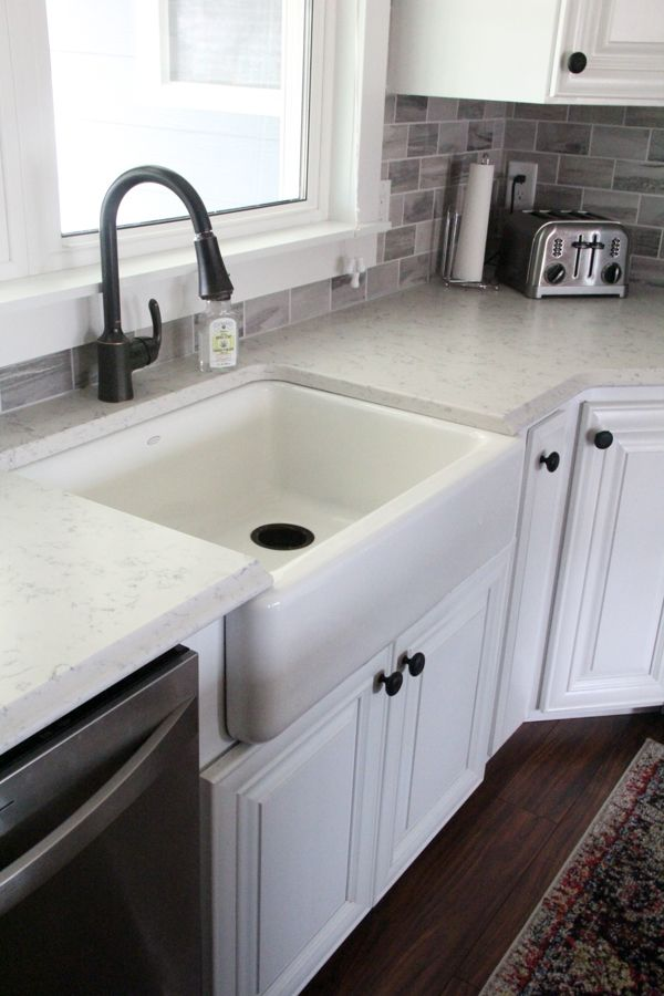 Farmhouse Sink Into Existing Cabinets