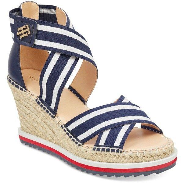 a40589d6d Tommy Hilfiger Yesia Espadrille Platform Wedge Sandals