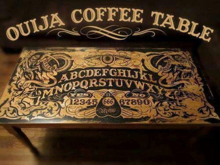 ouija coffee table horror chic pinterest d co salon. Black Bedroom Furniture Sets. Home Design Ideas