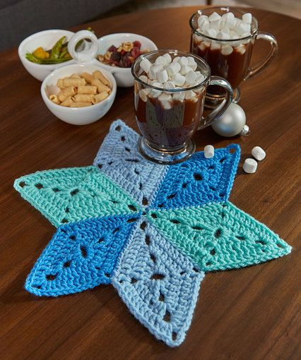 Star Table Mat Free Crochet Pattern By Randy Cavaliere For Red