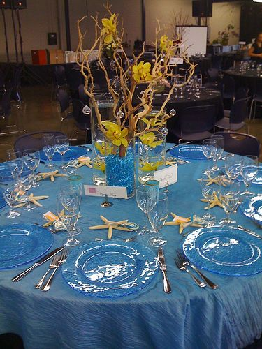 Table Settings · Ideas To Make Your Beach Themed Bar Or Bat Mitzvah A  Tropical Getaway!