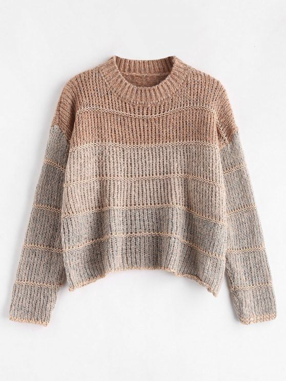 Cropped Chunky Knit Sweater - MULTI ONE SIZE  ZAFUL  sweaters ... 142c866f9aa1