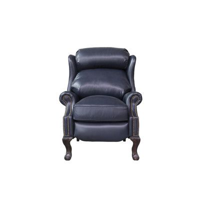 Marvelous Canora Grey Verne Leather Manual Recliner Products Gmtry Best Dining Table And Chair Ideas Images Gmtryco