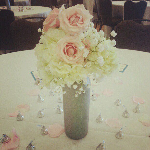 Floral Centerpieces For A Daytime Wedding Reception In The Regents Ballroom