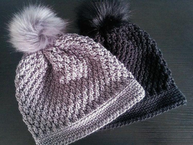 Pom-pom Beanie Pom-pom Toque Handmade Crochet AultYouth Beanie AdultYouth Toque