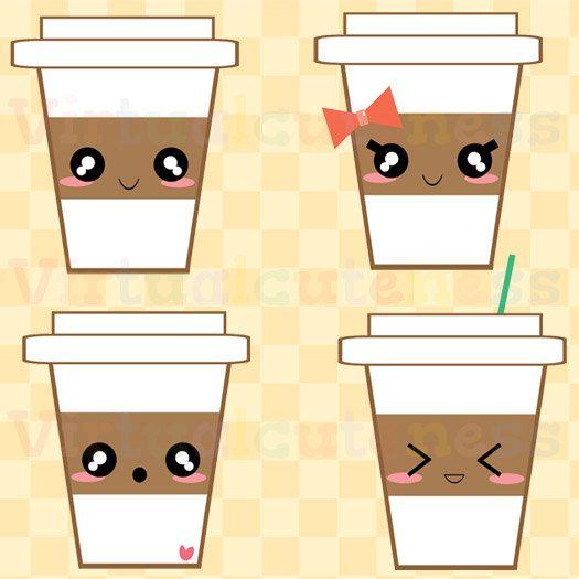 Cute Coffee Clip Art Espresso Clipart Hot Cocoa Planner Happy