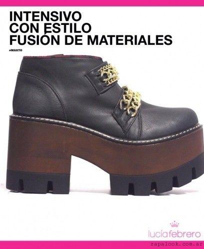 Lucia Febrero Coleccion De Calzados Invierno 2015 Calzas Botas Botas Timberland