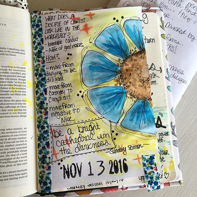 """""""Be a bright cathedral in the darkness!"""" Pastor Dale Gruver #PastorsWife #JillsJournaling #illustratedfaith #SundaySermon"""