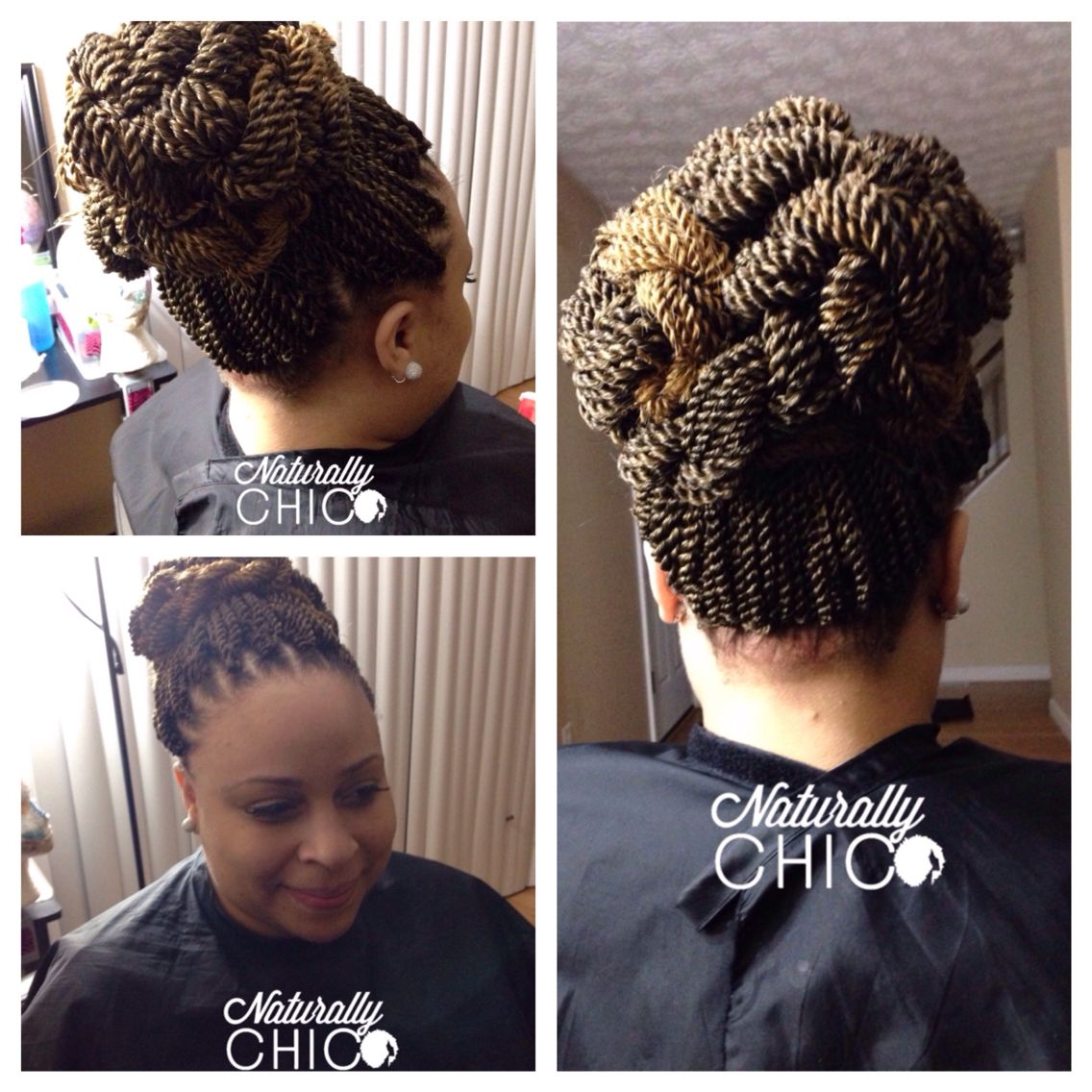 crochet senegalese twists in bun color tt27 protective