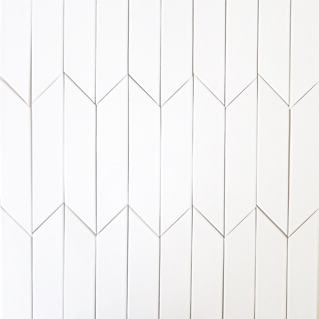 Chevron tile 2x8 milk